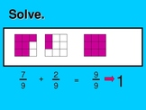 Adding and Subtracting Like Fractions PowerPoint- by Kelly Katz
