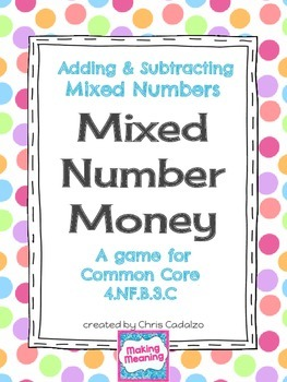 Mixed Numbers Math Game - Adding and Subtracting Mixed Numbers