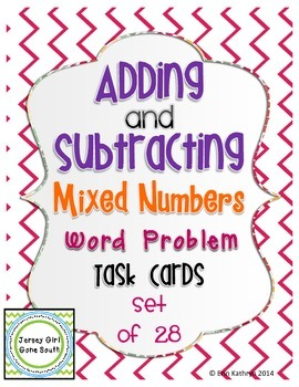 Adding and Subtracting Mixed Numbers Word Problem Task Car