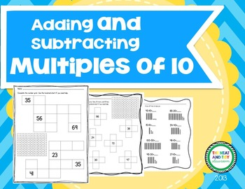 Adding and Subtracting Multiples of 10 {1st Grade Common C