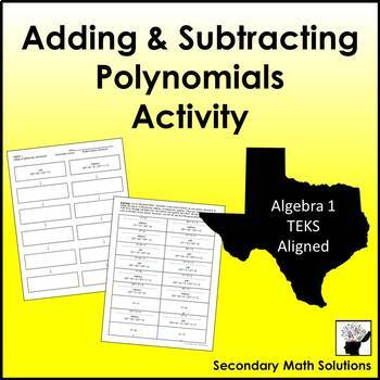 Adding and Subtracting Polynomials Activity (Cut & Paste)