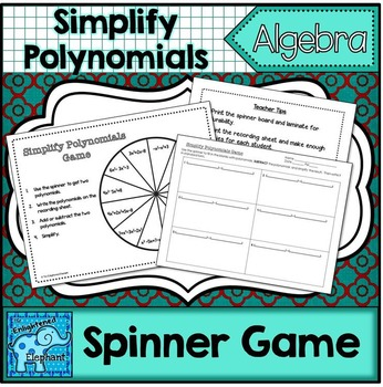 Adding and Subtracting Polynomials Game