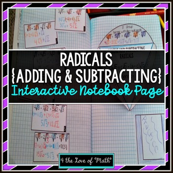 Adding and Subtracting Radicals (Square Roots) Interactive