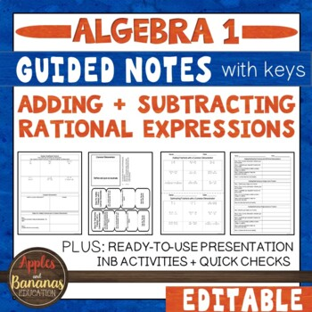 Adding and Subtracting Rational Expressions - Interactive