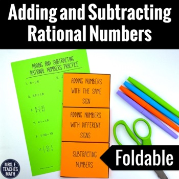 Adding and Subtracting Rational Numbers Foldable