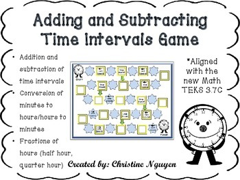 Adding and Subtracting Time Intervals Game Aligned to New