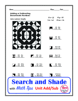 Adding and Subtracting length, time and weight  Search and Shade