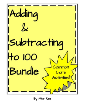 Adding and Subtracting to 100 Math Resource Bundle * Math