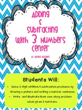 Adding and Subtracting with 3 Numbers