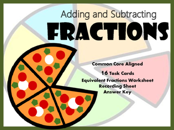 Fractions Adding and Subtracting with Unlike Denominators