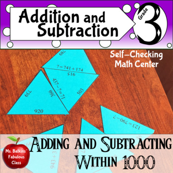 Adding and Subtracting within 1000 Math Center { 3.nbt.2 }