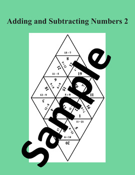 Adding and subtracting numbers 2 – Math puzzle