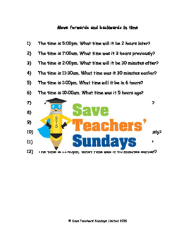 Adding and subtracting time lesson plans, worksheets and more