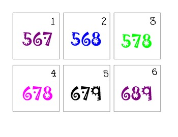 Adding by 1, 10, 100 Calendar Math Pattern