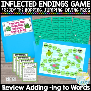 Adding -ing to Words Game {Freddy, the Hopping, Jumping, D