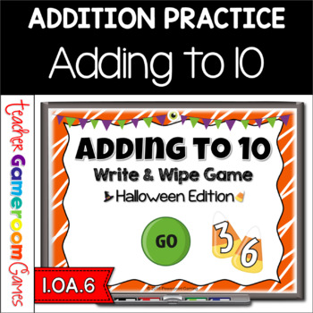 Adding to 10 Halloween Powerpoint Game