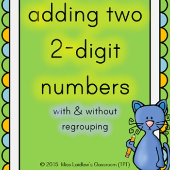 Adding two 2-digit numbers with and without regrouping; po