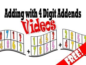Adding with 4 Digit Addend Videos