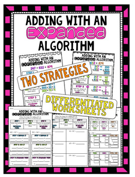 Adding with an Expanded Algorithm ~ Reference Charts,& Dif