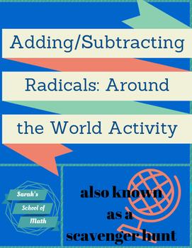 Adding/Subtracting Radicals Around the World Activity (req