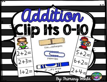 Addition Centers 0-10 Clip It