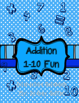 Addition 1-10 Interactive Notebook