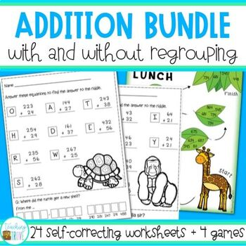 Addition - with and without regrouping