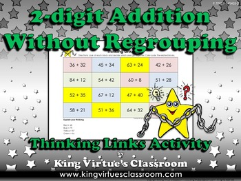 Addition: 2-digit Without Regrouping Thinking Links Activi