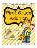 First Grade Addition - vocabulary, seasonal themed pages,