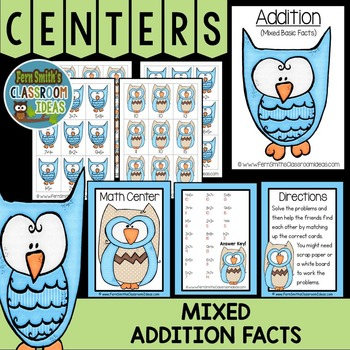 Mixed Addition Facts Center Games