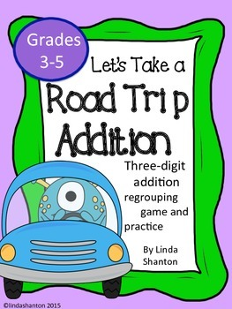 No Prep - Addition 3-4 Digit Regrouping Game and Center