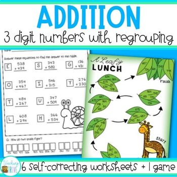 Addition - 3 digit with regrouping