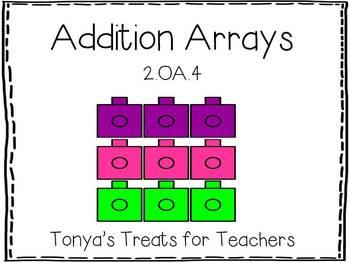 Addition Arrays Unit-CCSS aligned