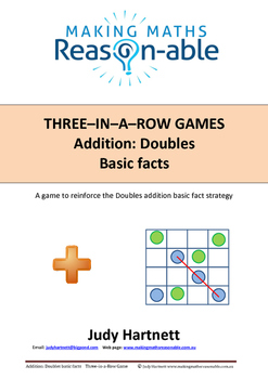 Addition Basic Facts - Doubles. 3-in-a-row game