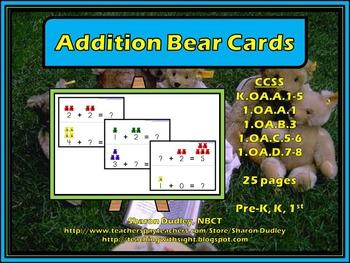 Addition Bear Cards