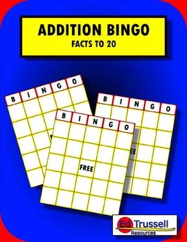 FREE Addition Bingo: Facts to 20
