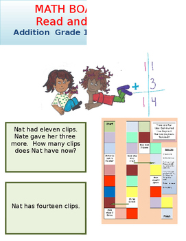 Addition Board Game Grade 1 Math and Grade 1 Reading