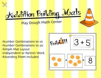 Addition Math Center: Build It! Play Dough Mats