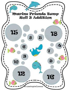 Addition Bump Game: Marine Life