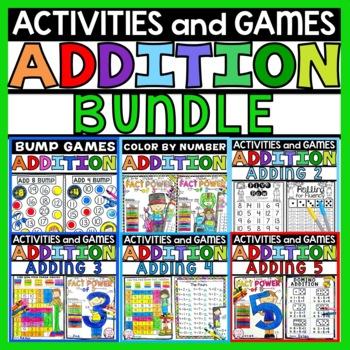 Addition Fact Families 2-5 Math Bundle