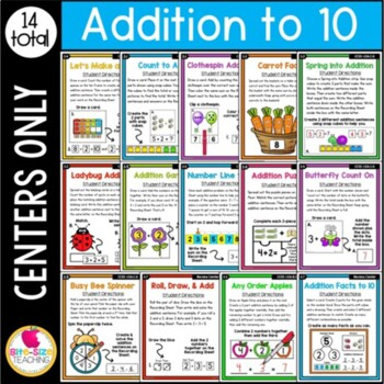 First Grade Addition Centers