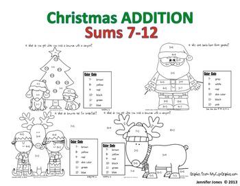 Addition Christmas Mini Set 2 - Sums 7-12