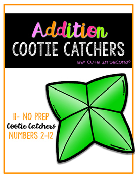 Addition Cootie Catchers #2-12
