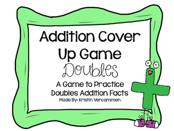 Addition Cover Up Game - Doubles
