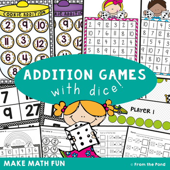 Addition Games {with Dice} Bundle