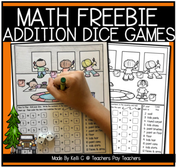 Addition Dice Game- July 4th *FREEBIE*