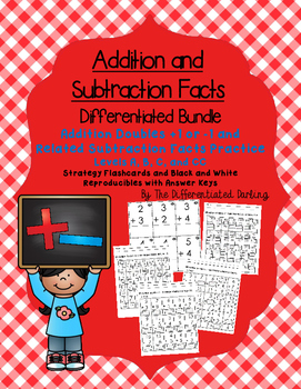 Addition Doubles +1 or -1 and Related Subtraction Facts Fl