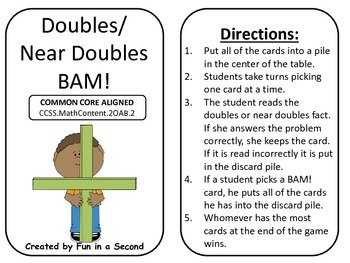 Addition: Doubles Near Doubles BAM!