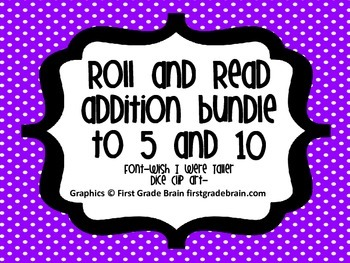 Addition Equations-Roll and Read Bundle to 5 and 10