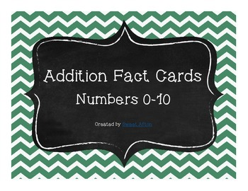 Addition Fact Cards